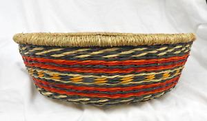 Hand Made Zulu Basket / Bowl - Woven Straw / Grass - Assorted Colours - BNWT