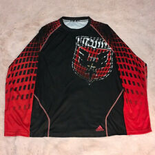Used Large MLS DC United Adidas Climalite Long Sleeve Soccer Shirt/Jersey.