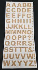 Gold Glitter Letters / Alphabet Sheet of 60 Outline Stickers Peel Off Craft