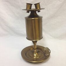 Vintage Double Candlestick Holder Finger Loop Ring Drip Tray Metal Candle Lamp