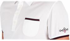 Polo Uomo della Cavalleria Toscana da equitazione ricamata in colore Bianco