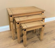 Corona Nest of 3 Tables Mexican Solid Pine Side/End Tables by Mercers Furniture®