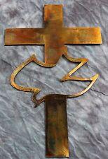 Cross with Dove Metal Wall Art