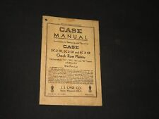 Vintage Case Farm Machinery Manual Catalog Model Tractor Check Row Planter (J914