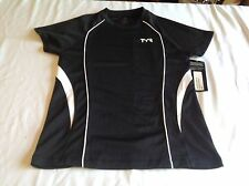 Tyr Women's Competitor Series Short Sleeve Top (Small) -Black / White -Nwt