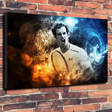 Andy Murray Tennis , Wimbledon Printed Box Canvas Picture Multiple Sizes