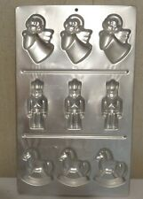 Vintage Wilton chocolate molds - different designs - metal trays
