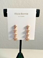 "Alicia Bonnie LA ""Dazzling Dasies"" Drop Crystal Earrings New With Dust B"
