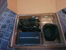 PWAY 4K HDMI USB KVM Switch 4x1. Never used everything there.