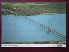 POSTCARD YORKSHIRE HUMBER BRIDGE FROM THE SOUTH - AERIAL VIEW