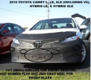 Lebra Front End Mask Cover Bra Fits Toyota Camry L, LE & XLE 2018-2020