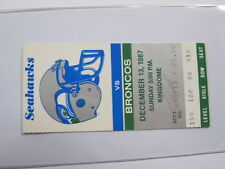 Dec 13, 1987 Denver Broncos vs Seattle Seahawks Ticket Stub