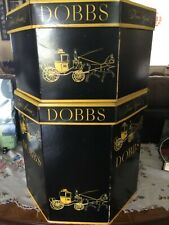 Set of 2 Vintage Dobbs Fifth Avenue Octagonal Hat Box / Boxes (2 Sizes)