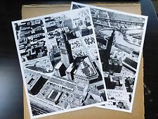 2 Aerial Photos of Cleveland OH - Terminal Tower 1950 Runyon, Young - 8x10