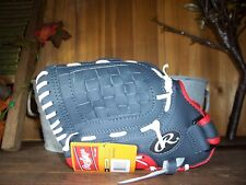 RAWLINGS 11.5 INCH BASEBALL GLOVE FITS RT HAND KIDS SPORTS APPAREL GRAY RED NEW