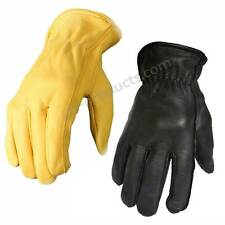 Deerskin Leather Gloves - very soft noble deerskin without lining quality new
