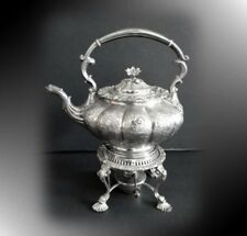 Sheffield silver plate teapot with burner - Reproduction - FREE SHIPPING