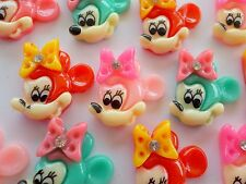 """100! Mickey Mouse Flatback Resin Embellishments with Gems Colour Mix 20mm/0.75"""""""