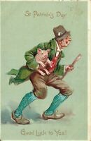 Saint Patrick's day Good Luck to Yez! Man With A Pig 01.58