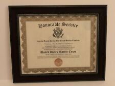 HONORABLE SERVICE~U.S. MARINE CORPS -Commemorative Certificate w/Custom Printing