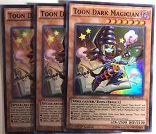 YUGIOH 3X TOON DARK MAGICIAN TDIL-EN032 SUPER RARE **PLAYSET** 1ST EDITION!!HOT!