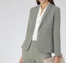 $425 NWT Reiss Camila Jacket Textured Wool Blazer Fern sz US 2 (UK 6)