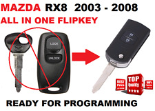 1 x MAZDA 3 RX8  Remote FLIPKEY Ready for programming Transponder Car key 41521