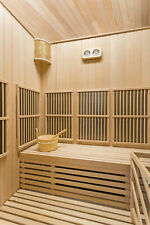 XXL Luxus Infrarotsauna+ Infrarotkabine Kombi SET Sauna mit Saunaofen 4 Personen