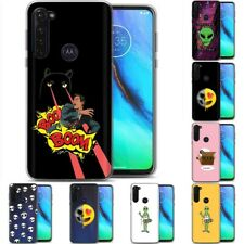 TPU Phone Case Cover for Motorola G Stylus,G7 Play,Power,Plus,Alien Space Print