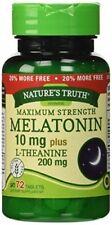 2 Pack Natures Truth Maximum Strength Melatonin 10mg L Theanine Capsules 72 Each