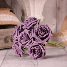FOAM ROSE BUNCH 7 CM 23 COLOURS WEDDING BOUQUET DECOR CENTREPIECES