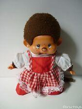 Peluche Kiki Monchhichi Sekiguchi Vintage ( 20cm ) avec robe / Ajena