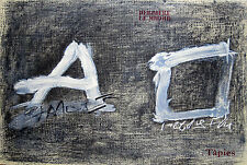 """ANTONI TAPIES: """"DERRIERE LE MIROIR"""" 2 ORIG.FARBLITHOGRAPHIEN, MAEGHT PARIS 1979"""