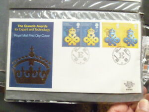 1990 ROYAL MAIL THE QUEEN'S AWARDS TECHNOLOGY & EXPORT    FIRST DAY COVER