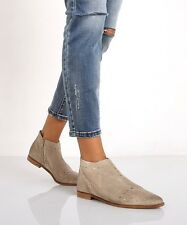 New $168 Free People Aquarian Studded Ankle Boot Bootie Taupe Suede Pointed Toe