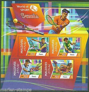 MALDIVES 2015  WORLD OF SPORT TENNIS  SHEET MINT NH