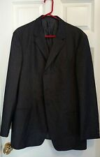 Armani Collezioni Charcoal Gray Tree Button  Jacket , 42R, Italy