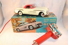 T.N SHOWA Mercedes Benz Battery operated tinplate car made in Japan SUPERB