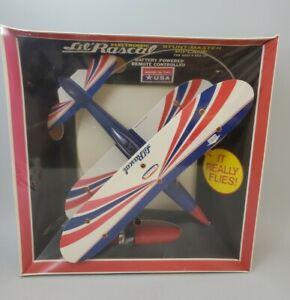 Vintage Stanzel Electromic Lil Rascal Stunt Master Biplane Battery Powered NEW