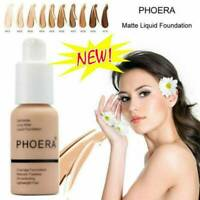 PHOERA Foundation Concealer Makeup Full Coverage Matte Brighten long-lasting New