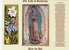 """*""""Our Lady of Guadalupe"""" +Pray For Us+ /Small Print Prayer/ 'Postcard'(B-417)"""