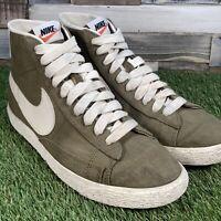 UK10 Nike Blazer Mid Premium Vintage Canvas Hi Top Trainers - 555095-300