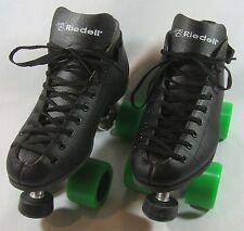New Riedell Spark 122 Skates Men's Black Size 5 Speed Jam Roller Derby Skates