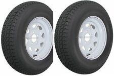 "2-Pack Trailer Wheel & Tire #425 ST175/80D13 175/80 D 13"" LRC 5 Hole White Spoke"