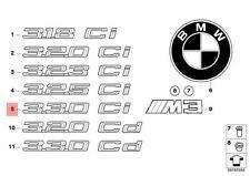 Genuine BMW E46 Trunk Lid Chrome 330Ci Emblem Badge Logo Sign OEM 51147004688
