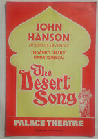 THE DESERT SONG.OTTO HARBACH.PALACE PROGRAMME.1967.PATRICIA MICHAEL.TONY HUGHES