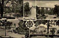 Plauen Vogtland DDR Stadtpark Platz der Roten Armee 1960 Rohrdommel Marke 10 Pf.