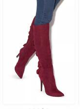 heeled boots Size 7 Ruffled Burgundy