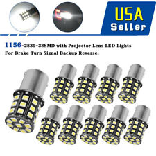 10x Super Bright 6.6w White 1156 RV Trailer 33-SMD LED 1141 Interior Light Bulbs