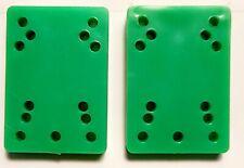 "Vintage 80's Generic Skateboard (1 pair) Green Riser Pads 1/2"""